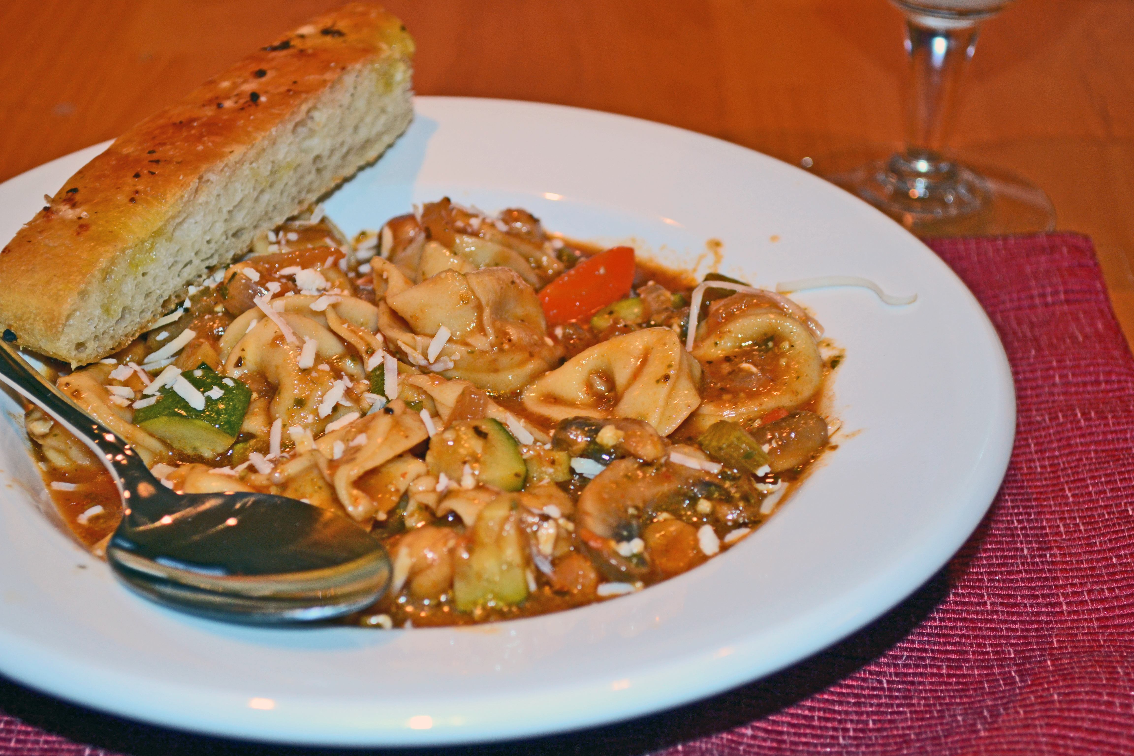 Minestrone with Tortellini and Pesto – baked by nicole