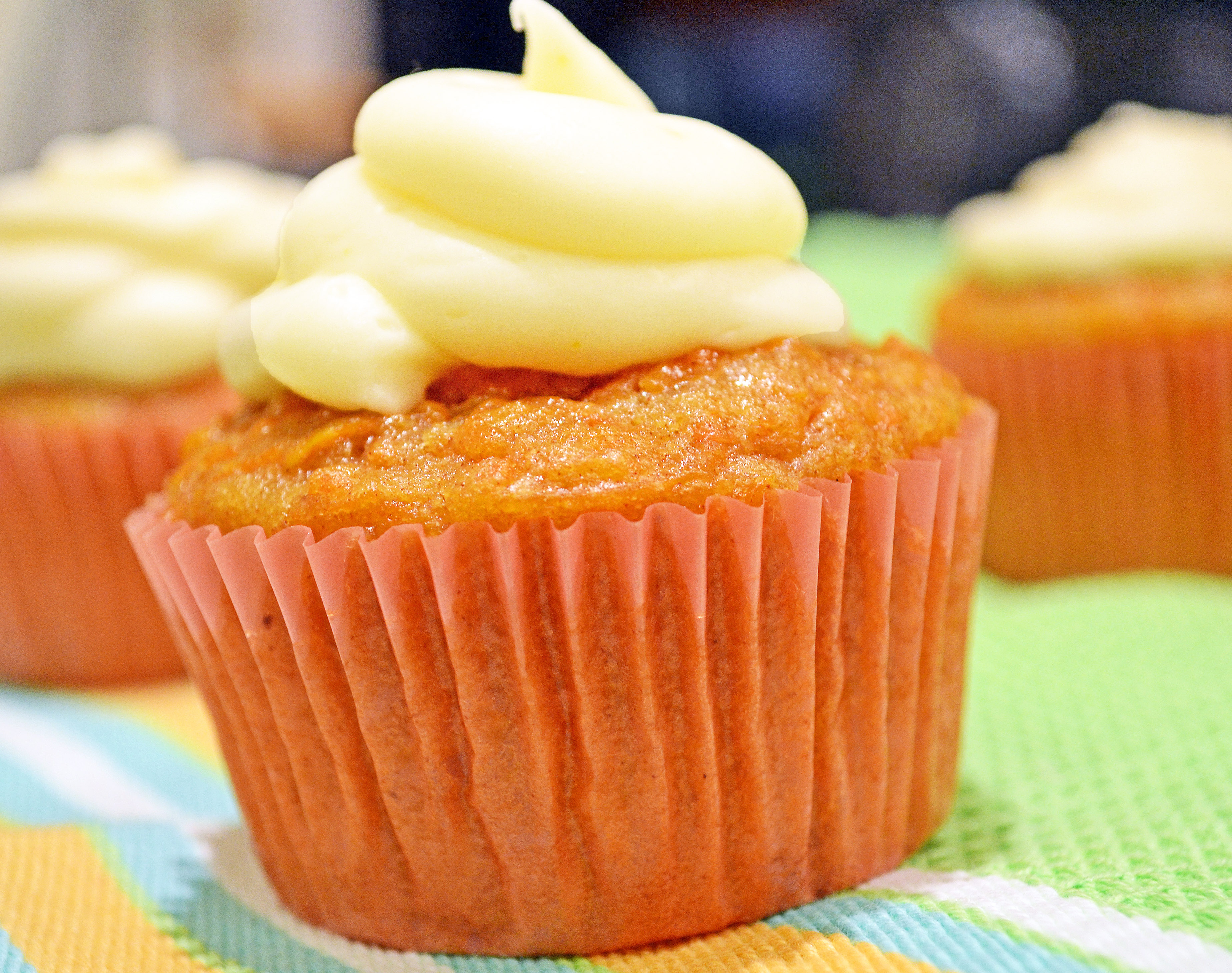 Carrot Cake Cupcakes with Orange-Cream Cheese Frosting ...