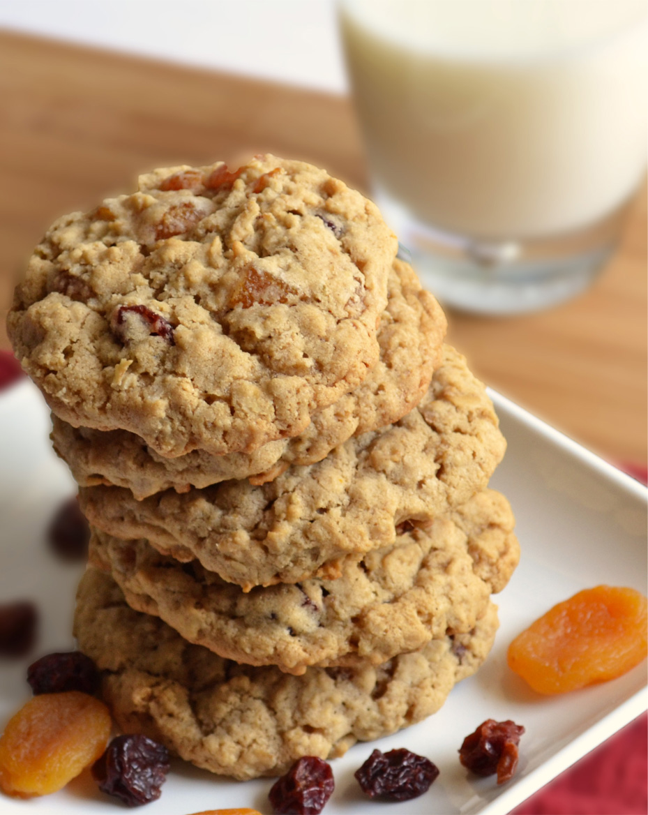 Cherry Apricot Oatmeal Cookies – baked by nicole