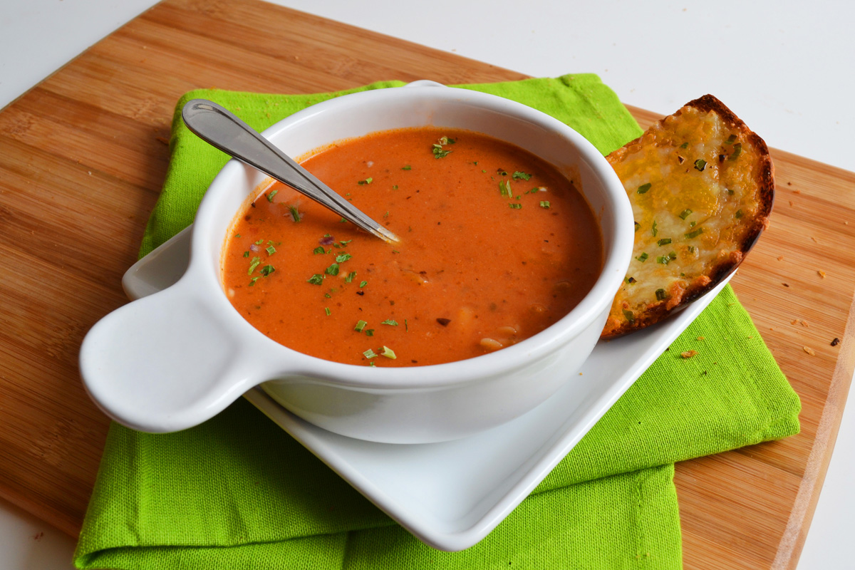 Tomato Soup with Orzo – baked by nicole