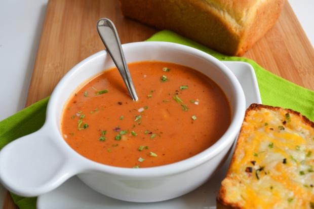 Tomato Soup with Orzo
